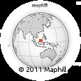 Outline Map of Kuala Belait, rectangular outline