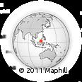 Outline Map of Belair, rectangular outline