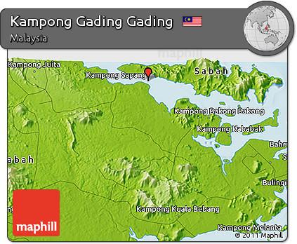 Physical 3D Map of Kampong Gading Gading