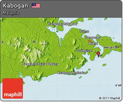 Physical Map of Kabogan