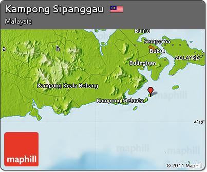 Physical Map of Kampong Sipanggau