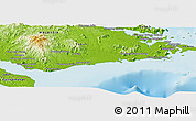 Physical Panoramic Map of Kampong Samar Samar