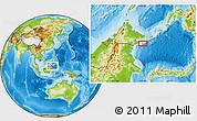Physical Location Map of Kampong Hampalan Kajang