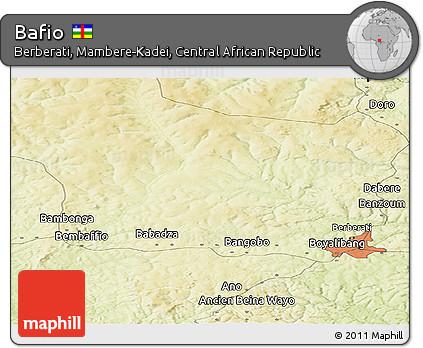 Free Physical Panoramic Map of Bafio