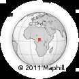 Outline Map of Balenge, rectangular outline