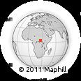 Outline Map of Zelembo, rectangular outline
