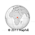 Outline Map of Bambisa, rectangular outline