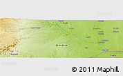 "Physical Panoramic Map of the area around 4° 22' 30"" N, 41° 43' 30"" E"