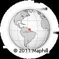 Outline Map of Grand-Santi, rectangular outline