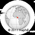 Outline Map of Akassa, rectangular outline