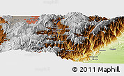 "Physical Panoramic Map of the area around 4° 22' 30"" N, 73° 52' 30"" W"