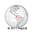 Outline Map of Riofrío, rectangular outline
