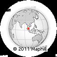 Outline Map of Perak, rectangular outline