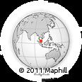 Outline Map of Terengganu, rectangular outline