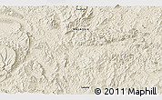 """Shaded Relief 3D Map of the area around 4°53'57""""N,117°22'30""""E"""