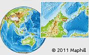 Physical Location Map of Kampong Juita