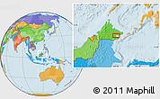 Political Location Map of Kampong Pangi