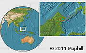 Satellite Location Map of Kampong Pangi