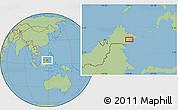 Savanna Style Location Map of Kampong Pangi