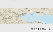"""Shaded Relief Panoramic Map of the area around 4°53'57""""N,118°13'29""""E"""