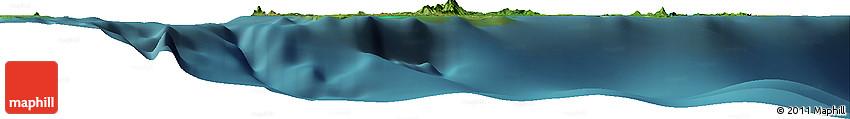 """Satellite Horizon Map of the Area around 4° 53' 57"""" N, 119° 55' 30"""" E"""