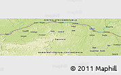 """Physical Panoramic Map of the area around 4°53'57""""N,19°37'30""""E"""