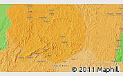 Political 3D Map of Congo