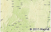 """Physical Map of the area around 4°53'57""""N,21°19'30""""E"""