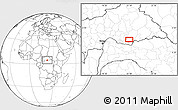 """Blank Location Map of the area around 4°53'57""""N,22°10'29""""E"""