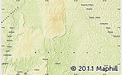"""Physical Map of the area around 4°53'57""""N,22°10'29""""E"""