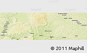 """Physical Panoramic Map of the area around 4°53'57""""N,22°10'29""""E"""