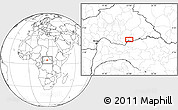 Blank Location Map of Agoumar