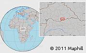 Gray Location Map of Agoumar