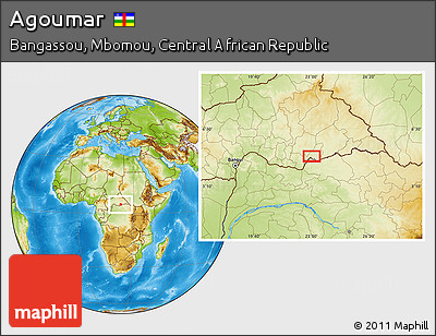 Physical Location Map of Agoumar