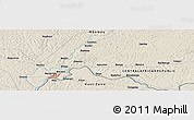 Shaded Relief Panoramic Map of Agoumar