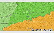 Political 3D Map of Barasi