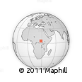 Outline Map of Doruma, rectangular outline