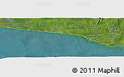 "Satellite Panoramic Map of the area around 4° 53' 57"" N, 2° 28' 30"" W"