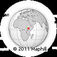 Outline Map of Omorate, rectangular outline