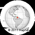Outline Map of Roraima, rectangular outline