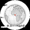 Outline Map of Gbaran-Ubie, rectangular outline