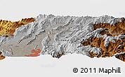 Physical Panoramic Map of Las Peñas