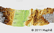 Physical Panoramic Map of San Marino