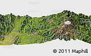 Satellite Panoramic Map of Manizales