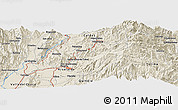 Shaded Relief Panoramic Map of Manizales