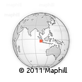 Outline Map of Bengkulu, rectangular outline