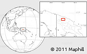 Blank Location Map of Ambunti