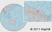 Gray Location Map of Ambunti, hill shading