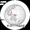 Outline Map of Angoram, rectangular outline