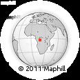 Outline Map of Djuma, rectangular outline